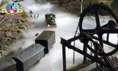 Thomas and friends Percy train and the haunted mine legend Sodor quarry wagon spooky woodland mist