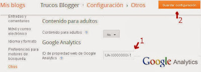 Google Analytics en Blogger
