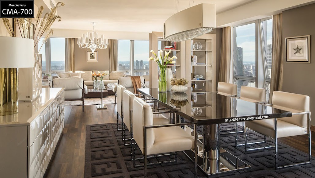 Comedores muebles per for Comedores grandes modernos
