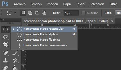 herramientas seleccion photoshop