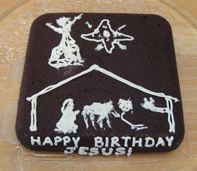Christmas Nativity 'Happy Birthday Jesus' Brownies 2