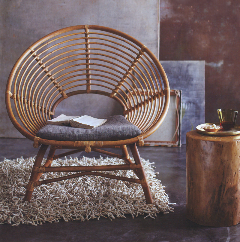 rattan relax lounge chair modern design by