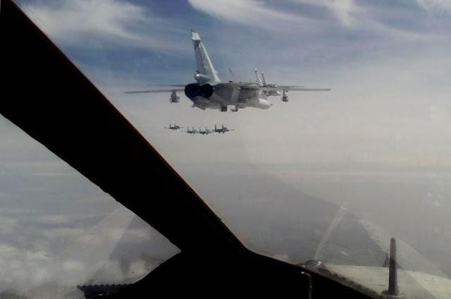 Jet Rusia Terbang Dekat Pesawat AS di Suriah