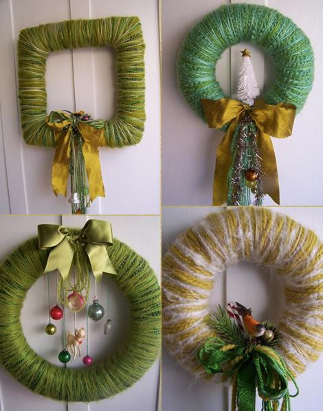 dandelions and dragonflies: Yarn Wreath