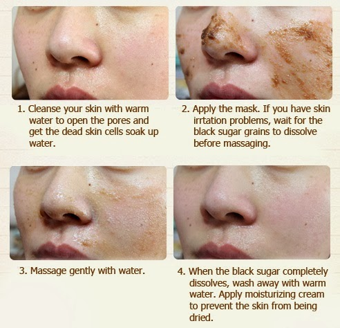 cara pakai skin food black sugar mask wash off