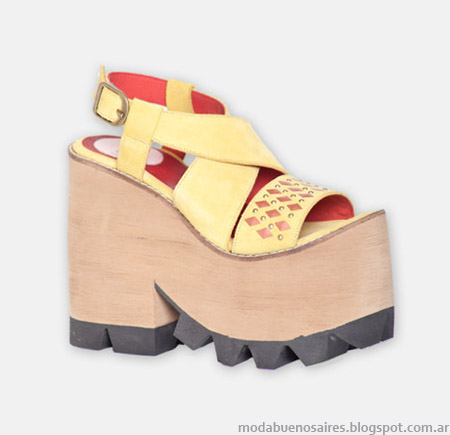 Moda juvenil sandalias altas con plataformas verano 2015 Hoku Shoes.