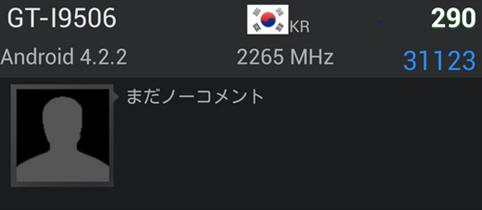 Samsung Galaxy S4 GT-I9506 AnTuTu