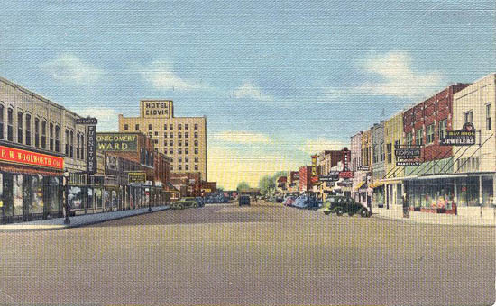 Main Street And Hotel Clovis