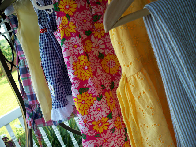 Sundresses hung out to dry