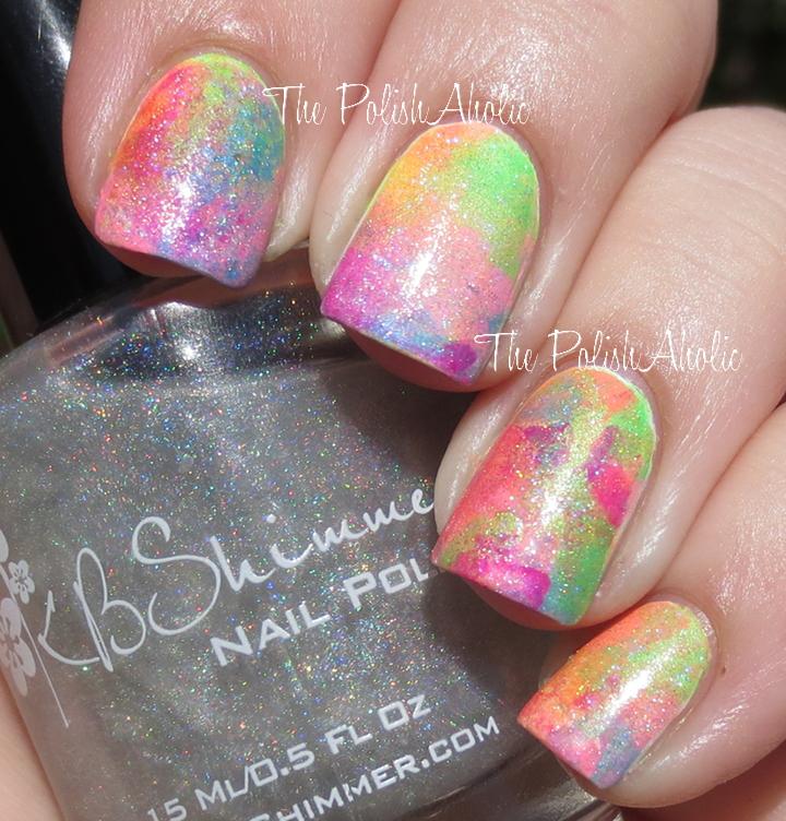 The PolishAholic: Sponged Rainbow Nail Art!