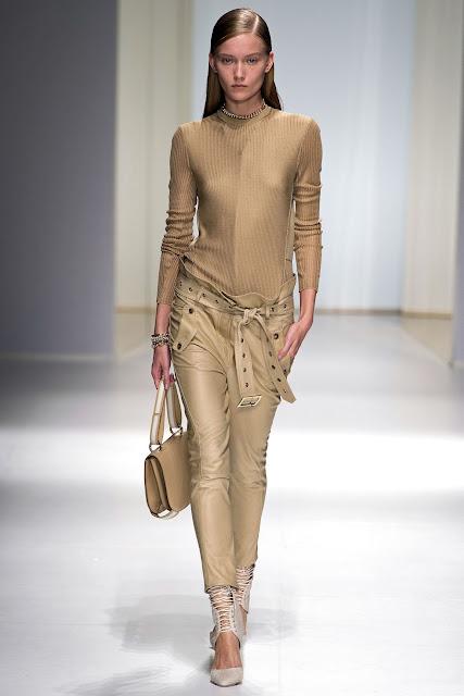Milan Fashion Week S/S 2013: Katya Riabinkina in Salvatore Ferragamo show