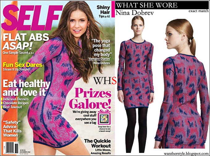 nina dobrev, self, magazine, cover, pink, dress,