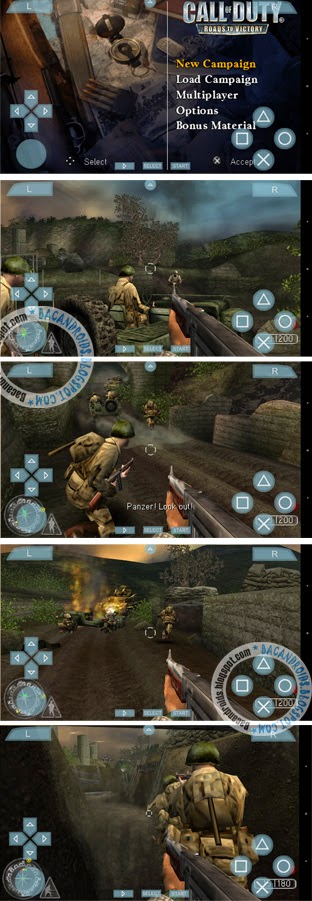 Game Call Of Duty(COD) Iso High COmpress untuk PSP android