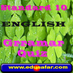 Standard 10 English  grammar Quiz