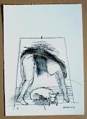 dessin sur papier report litho