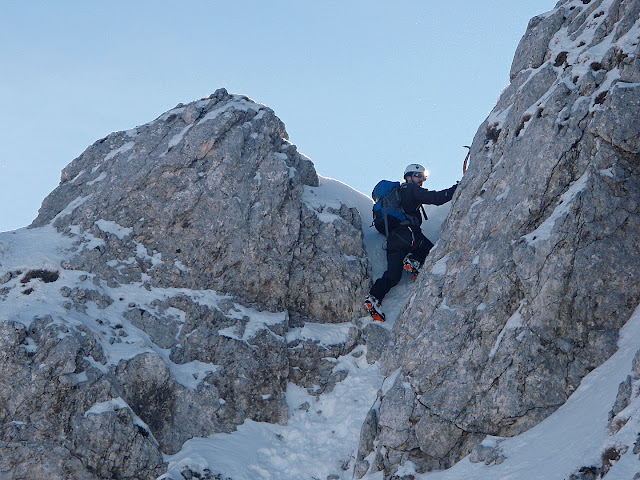 Il primo salto della cresta Nord del Terminillo - via Chiaretti-Pietrostefani