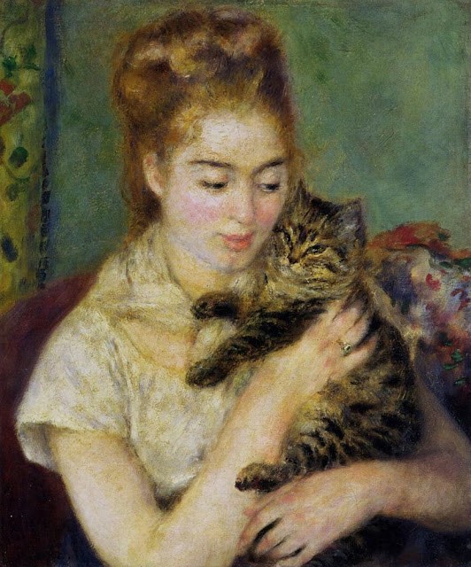 Pierre-Auguste Renoir: Kvinde med kat