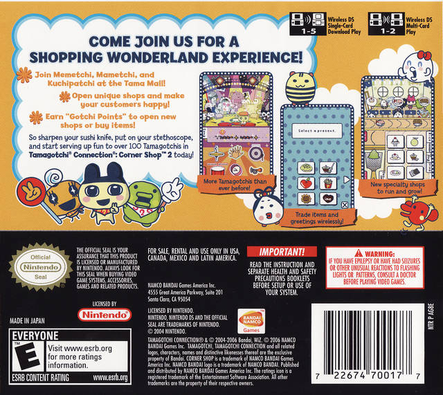 Tamagotchi Connexion Corner Shop 2 Descargar Download