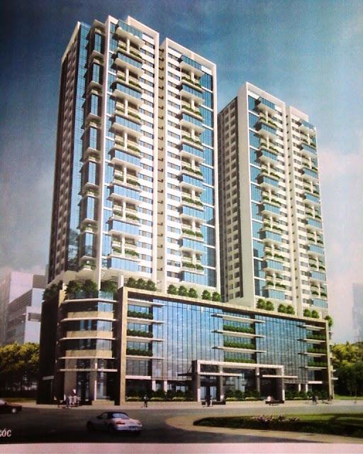 Phối cảnh tòa tòa nhà N01-T2 chung cư Ngoại Giao Đoàn, Tây Hồ, HN