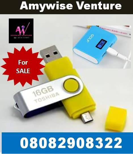 ADVERT:  32GB USB Flash Drives & Power Banks for Sale. Click Image or Call: 08082908322