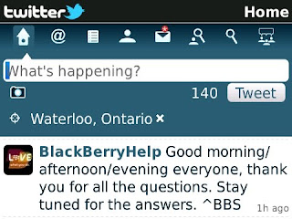 Twitter pour BlackBerry v1.1 Beta