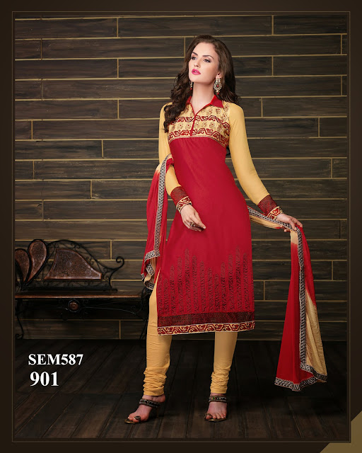 Buy Online Georgette Embroidery Work Salwar Kameez
