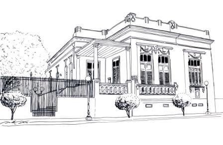 a desenhar modelos de casas colorir