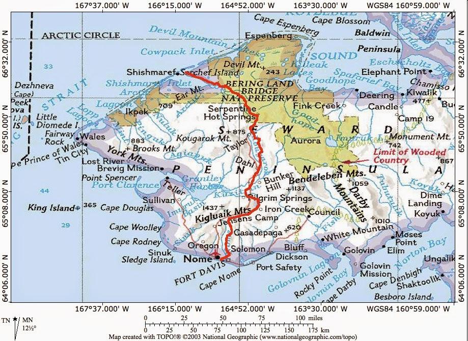 alaskatracks: Shishmaref to Nome on skis