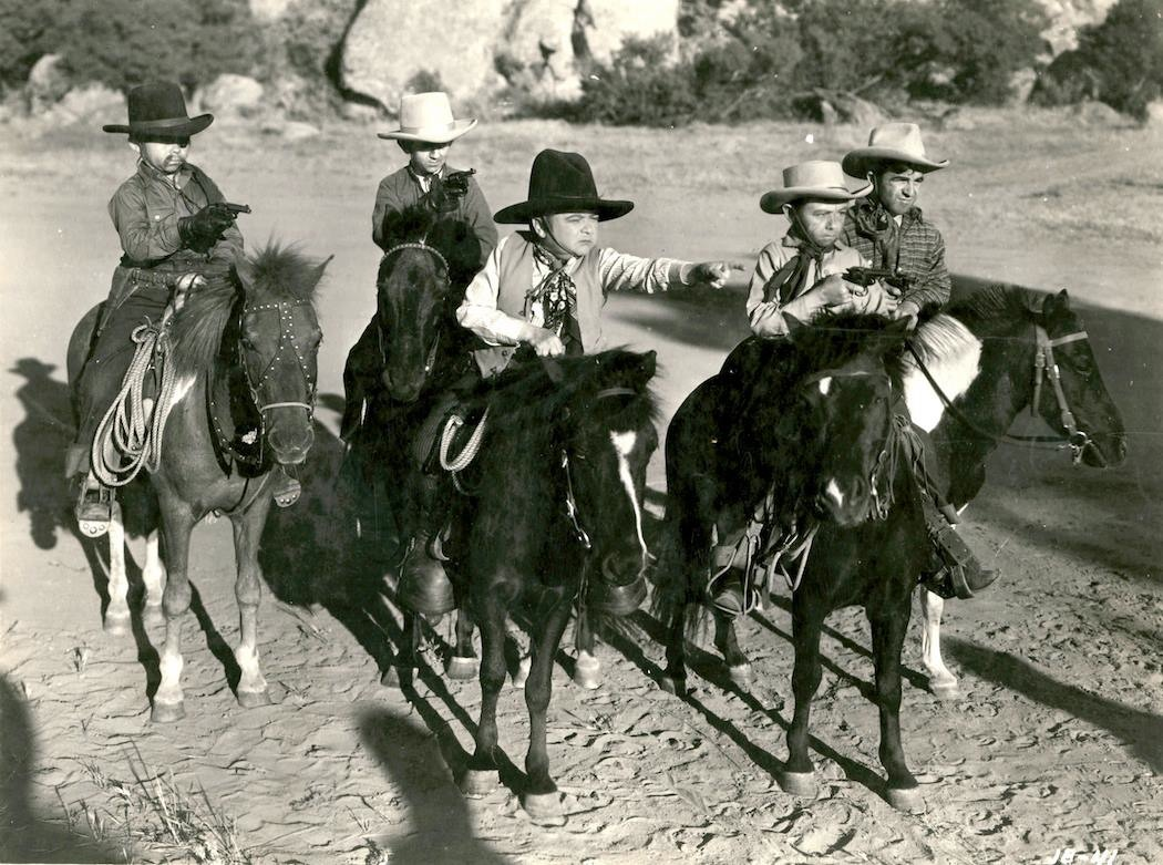 Midget sherrif in a western movie