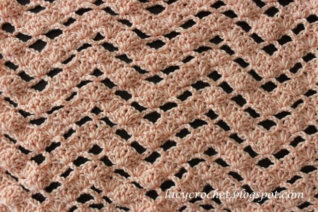 Lacy Crochet Lacy Ripple Crochet Stitch