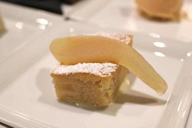 Bosc pear cake at Catalyst, Cambridge, Mass.