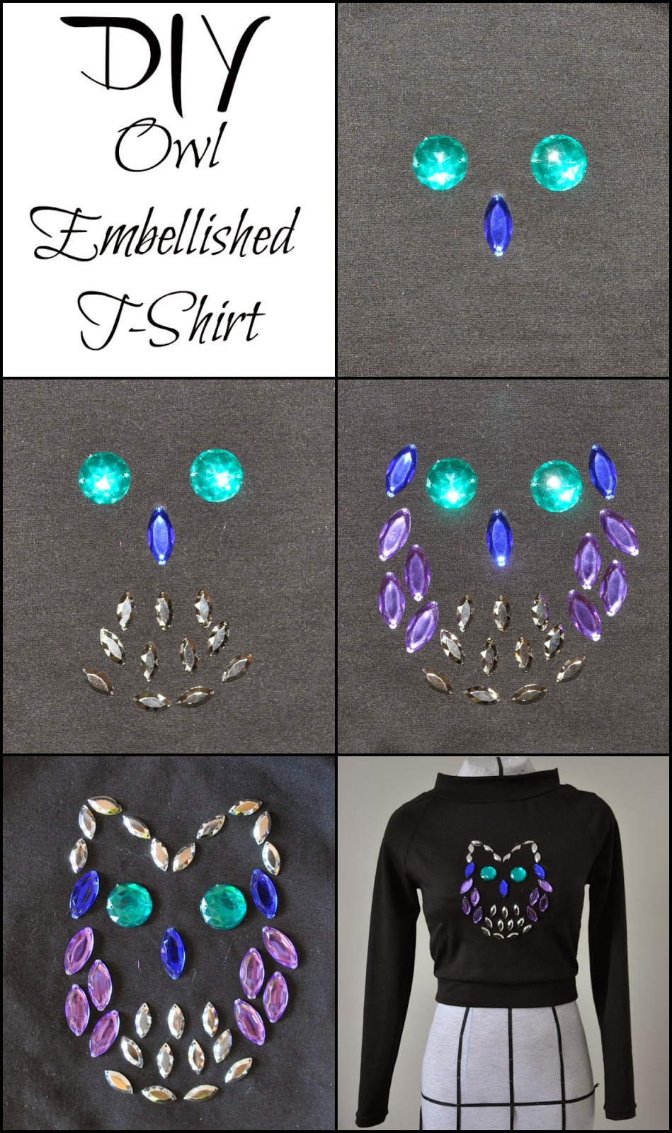 Jeweled Shirt, DIY, Embellished Shirt