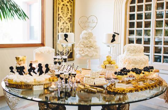 """dessert table anni '20, matrimonio a tema """"Il Grande Gatsby"""""""