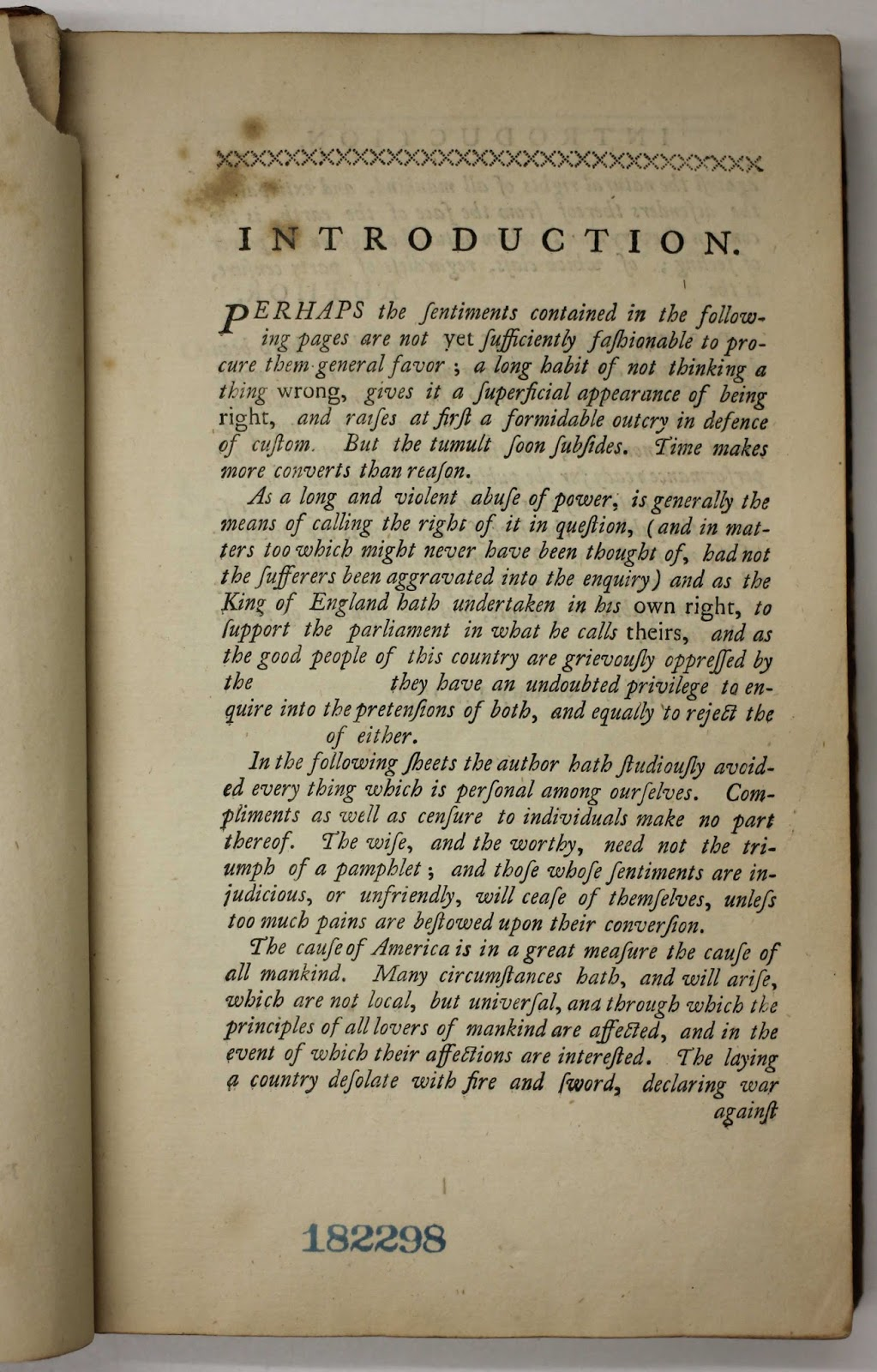 brandeis special collections spotlight thomas paine s common the 48 page pamphlet was the fuel that the colonists needed to have courage to rise against the british empire an astonishing contemplation for a common