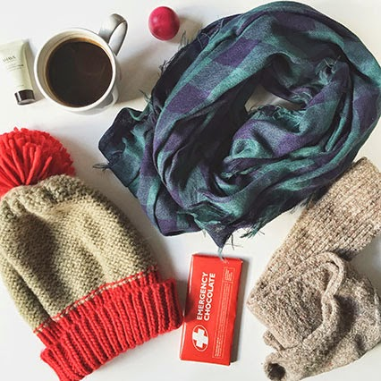 snow day survival kit, free people beanie, wool socks, free people socks, dos chapstick, ahava lotion, emergency chocolate bar, nashville icepocalypse, nashville blogger