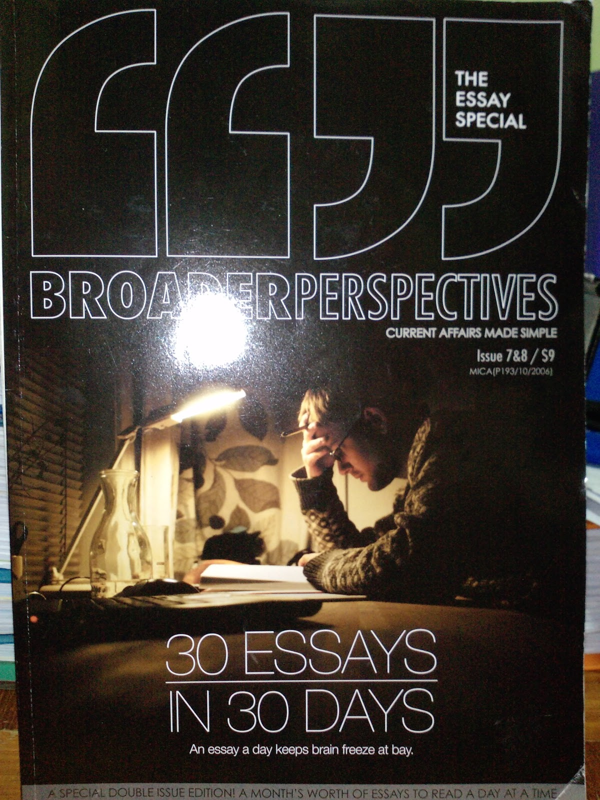 Broader perspectives essay issue scribd