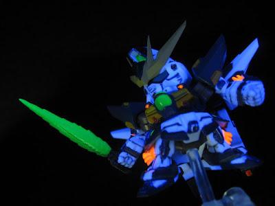 Gundam DX Fluorescent painted@gashapon next21 / black light photography