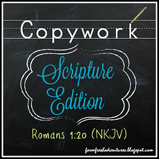 scripture copywork for Romans 1:20