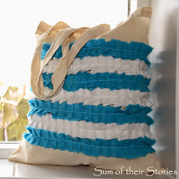 """Cornishware"" Ruffled Shopping Bag"