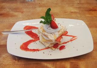 ravintola Blancon mansikkabrita