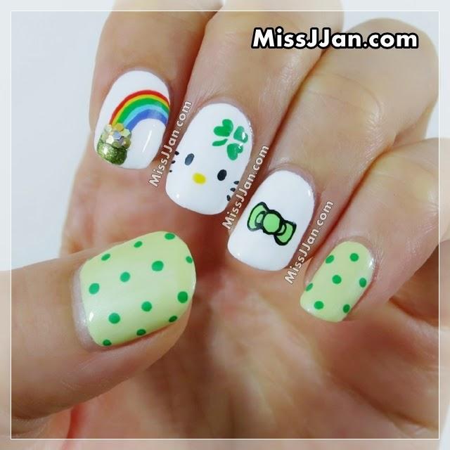 Missjjans Beauty Blog Tutorial St Patricks Day Hello Kitty
