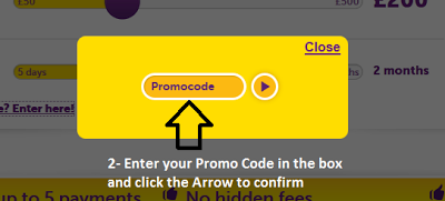 Peachy promo code, instructions step2