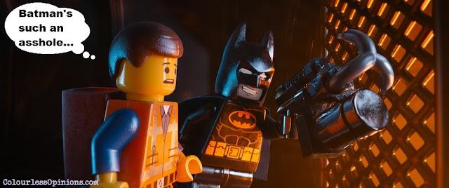Lego Movie still meme - Batman & Emmet
