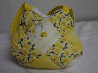 sunshine, mini, yellow, quilted, bag, child