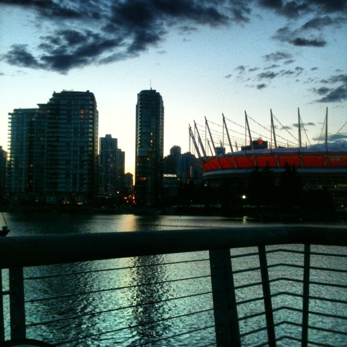 False Creek at dusk