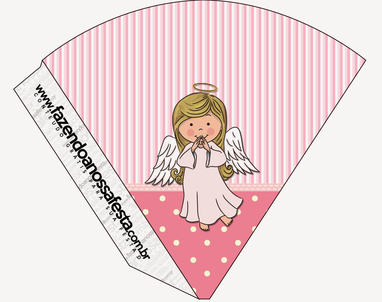 Angel girl free party printables is it for parties is it free free printable cones pronofoot35fo Images
