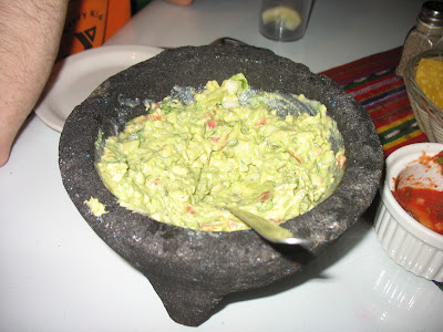 The final product - a molcajete full of tasty guacamole!