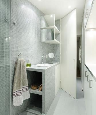 Espectaculares Diseños de Pequeños Baños  Ideas para decorar, diseñar y mejorar tu casa.