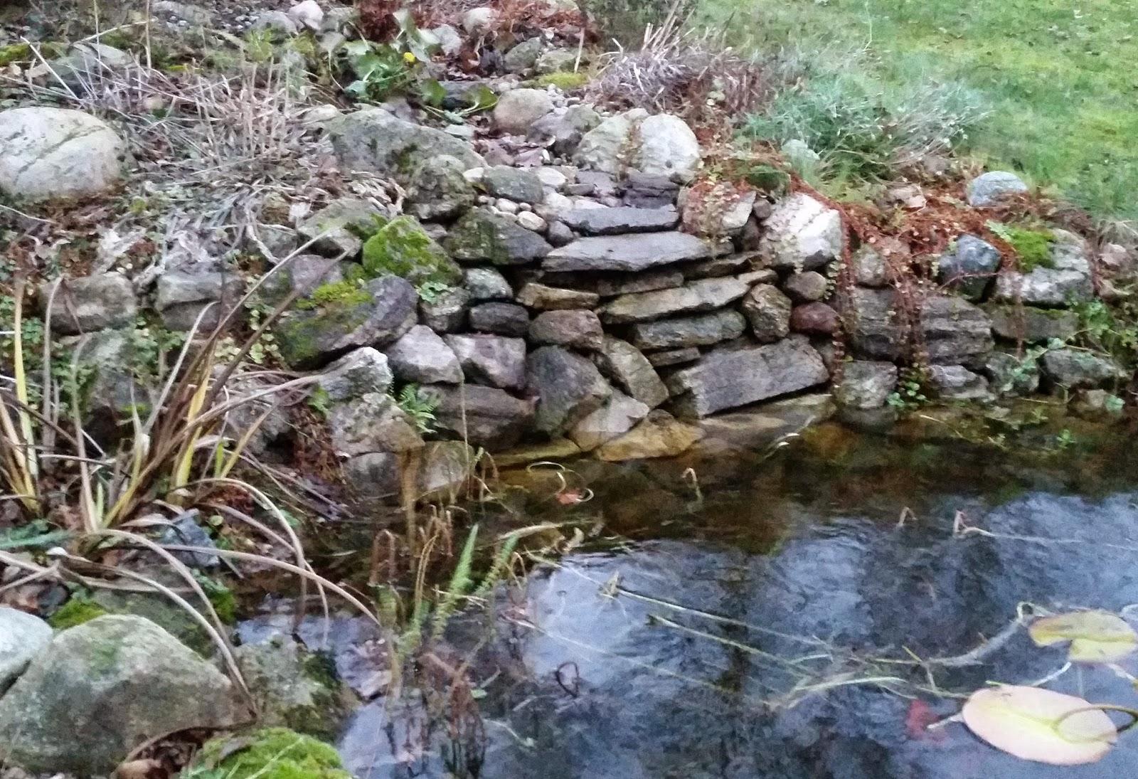vattenfall utan vatten i trädgård