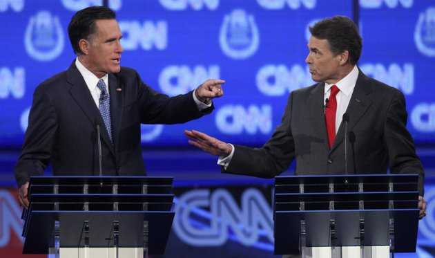 MITT ROMNEY IS A FLIP-FLOPPING HYPOCRITE - RICK PERRY?